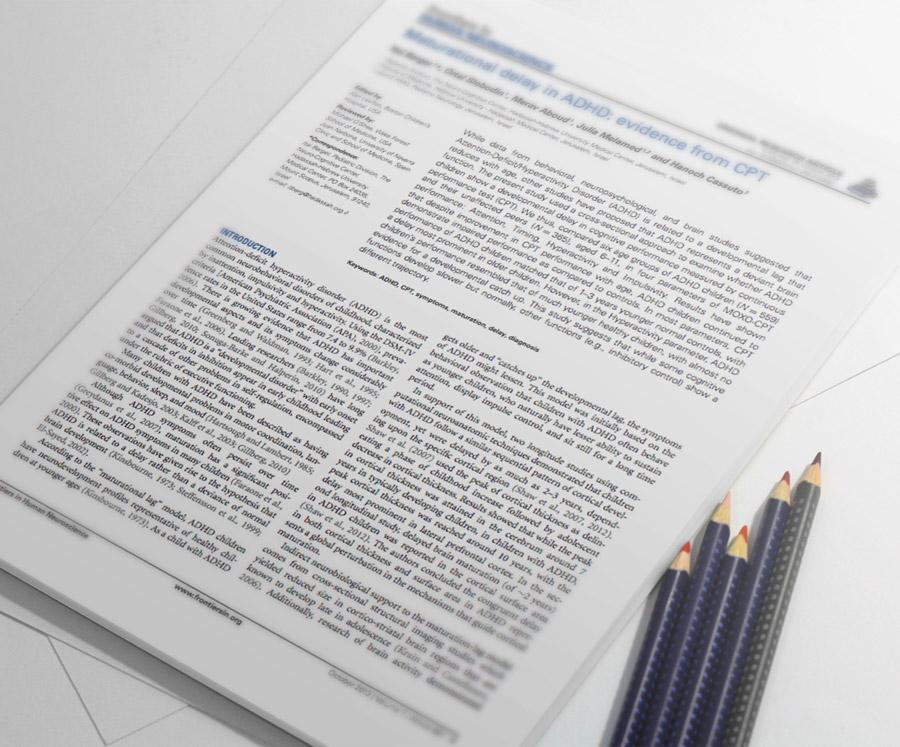 DEHB'de Gelişime Dayalı Gecikme: CPT ile Elde Edilen Kanıtlar